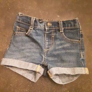 Denim Shorts 12-18 months